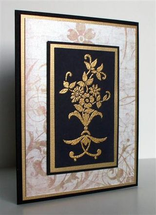 Gold embossing