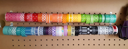Washi on curtain rods